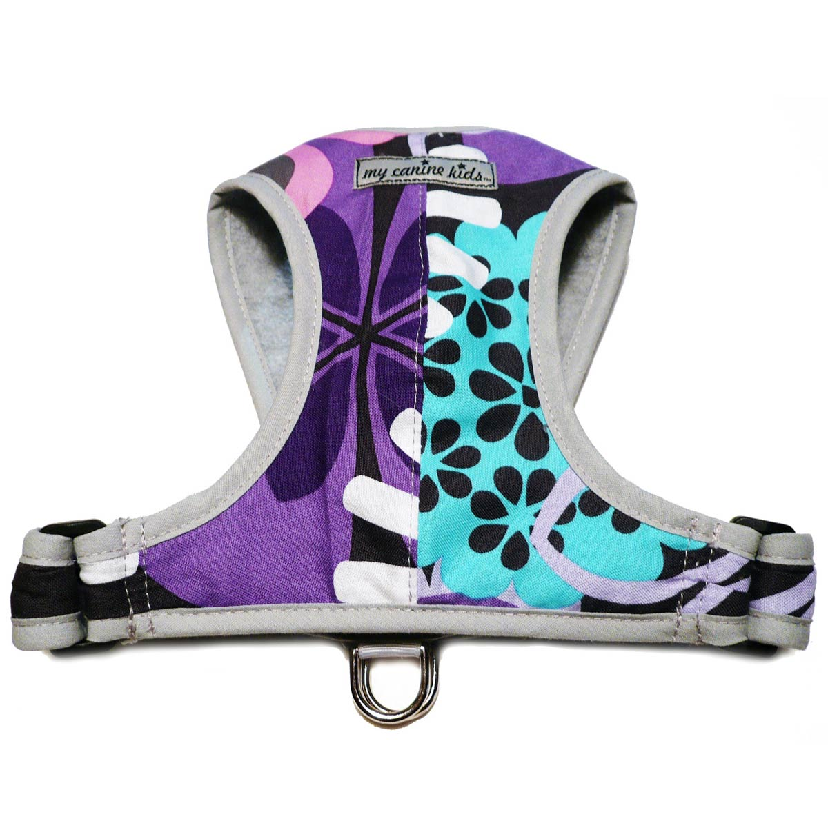 Precision-Fit Nylon Dog Harness - Purple Floral