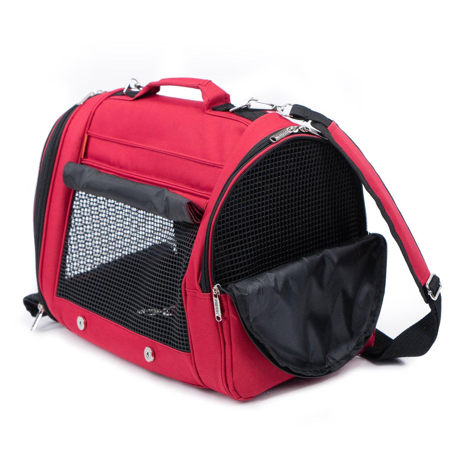 Prefer Pets Hideaway Backpack Pet Carrier - Burgundy
