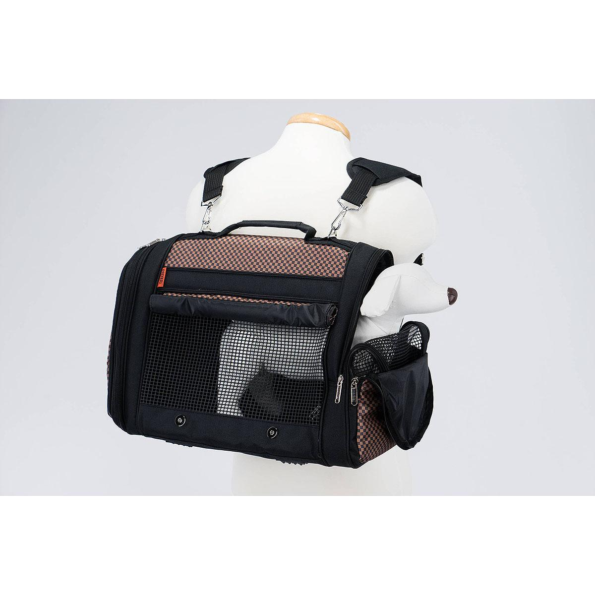 Prefer Pets Hideaway Backpack Pet Carrier - Brown Checkered