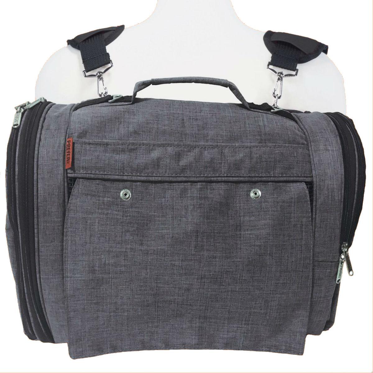 Prefer Pets Hideaway Backpack Pet Carrier - Heather Gray