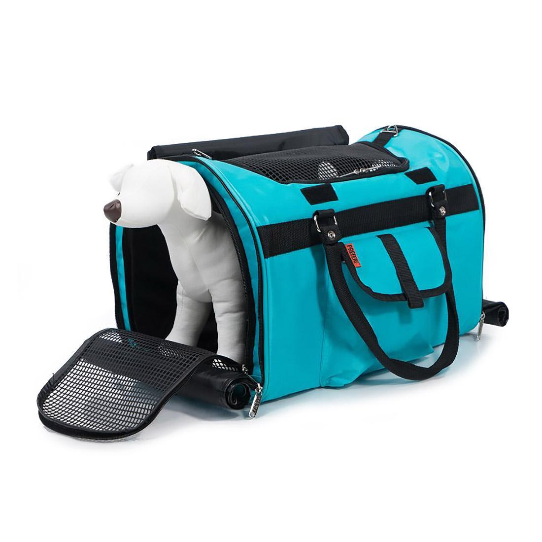 Prefer Pets Hideaway Duffel Pet Carrier - Aqua