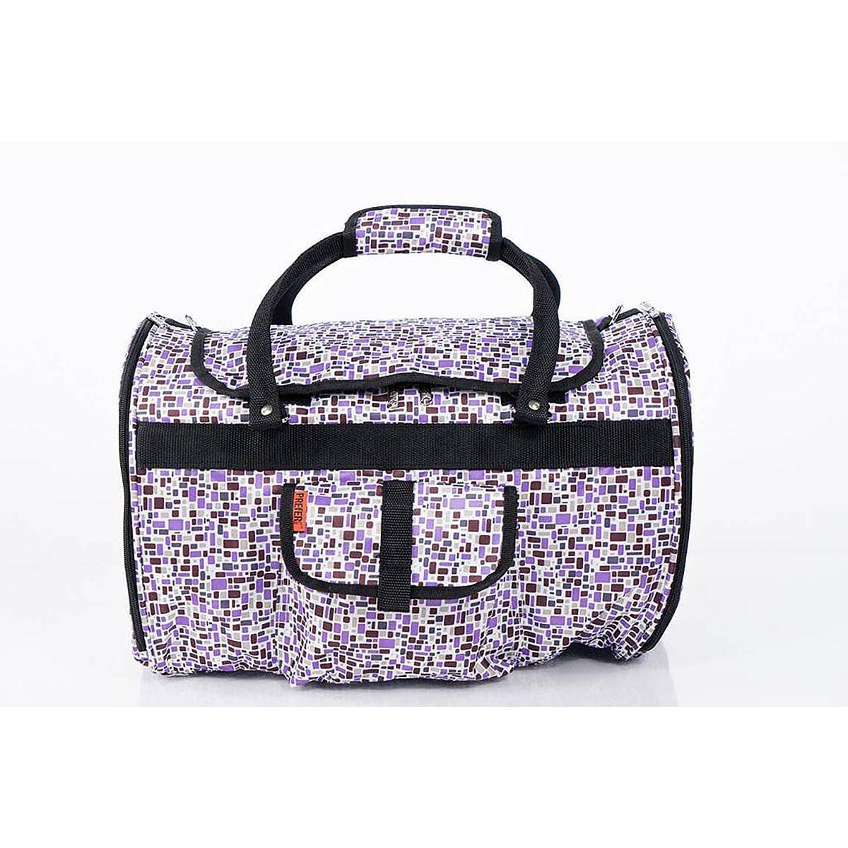 Prefer Pets Hideaway Duffel Dog Carrier - Purple Mosaic