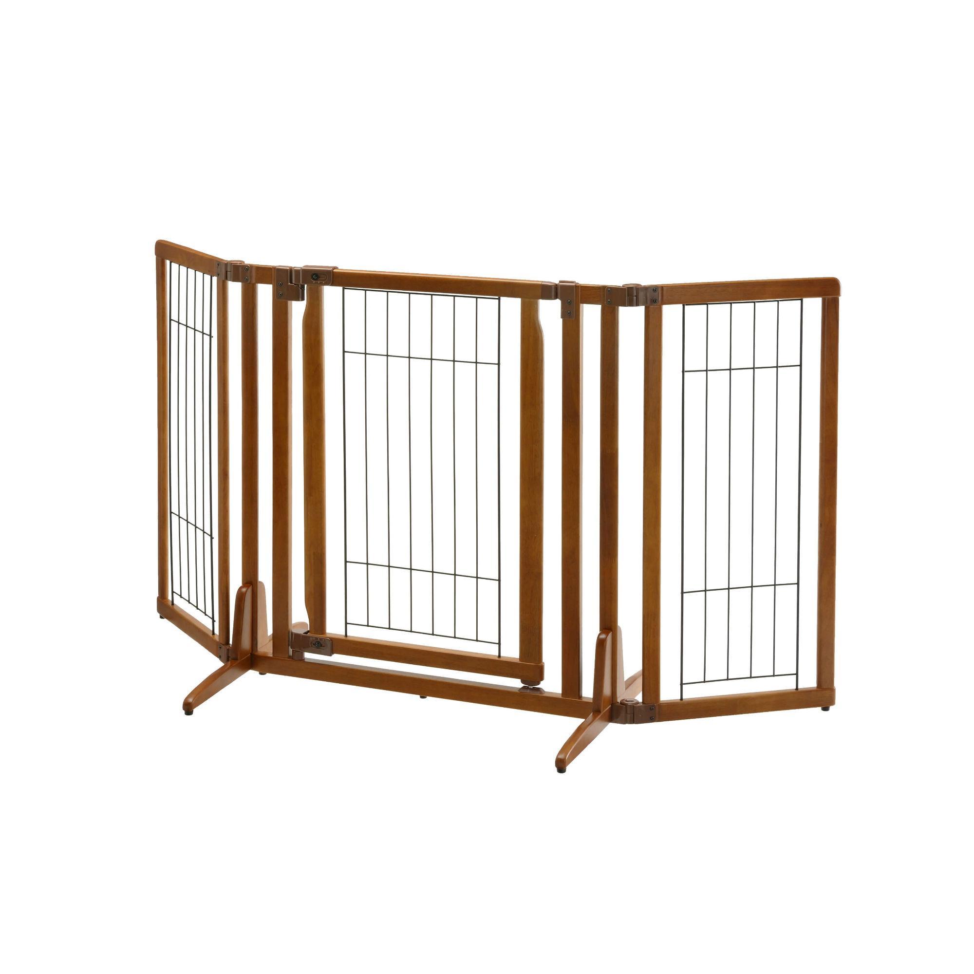 Premium Plus Freestanding Dog Gate - Autumn Matte