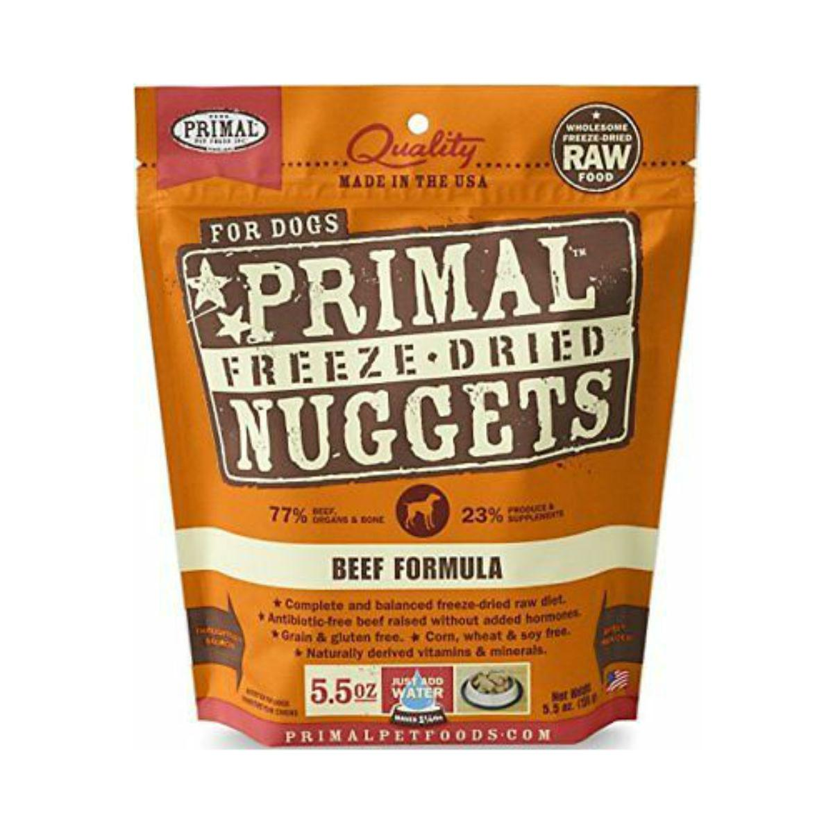 Primal Canine Freeze Dried Nuggets Dog Treat - Beef