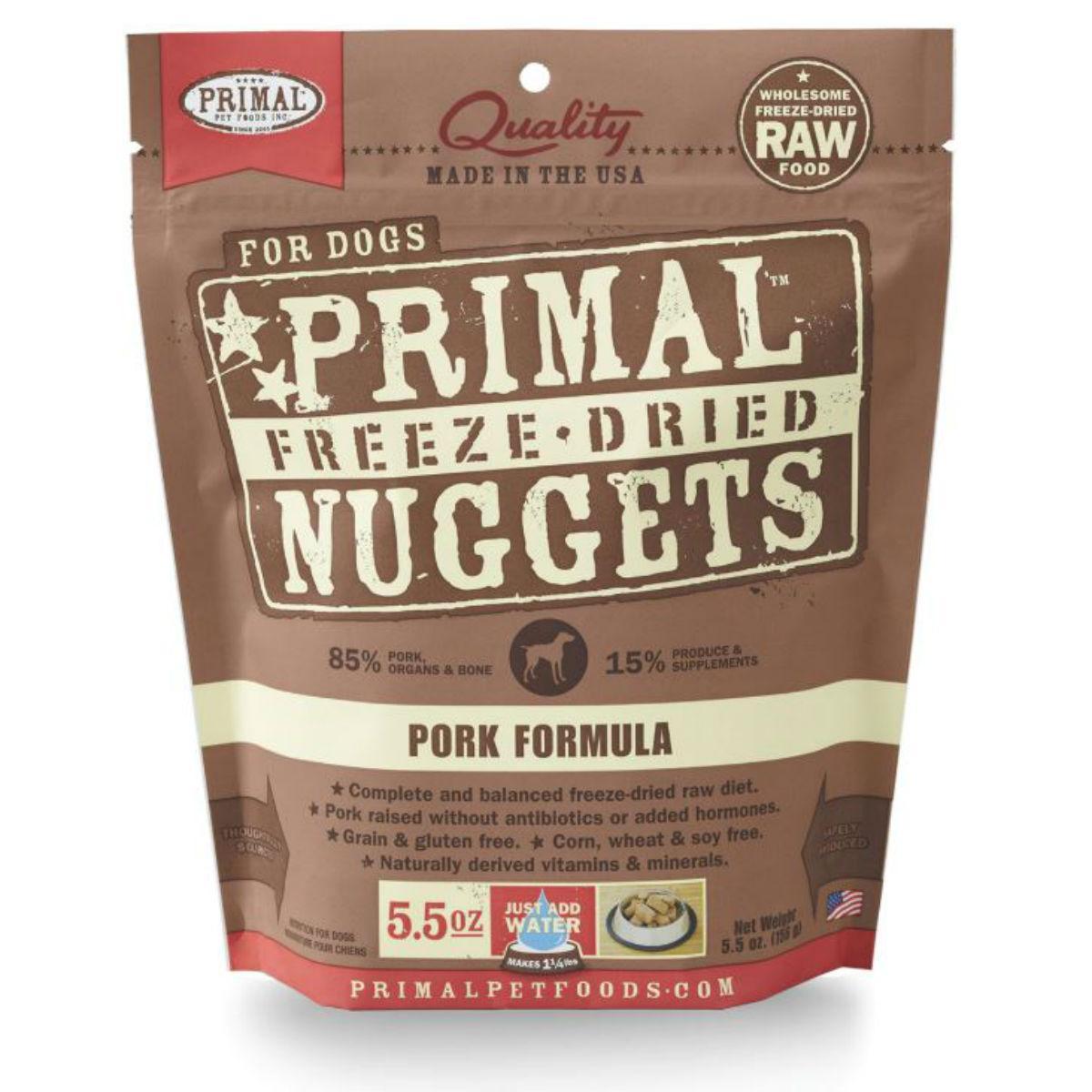 Primal Canine Freeze Dried Nuggets Dog Treat - Pork