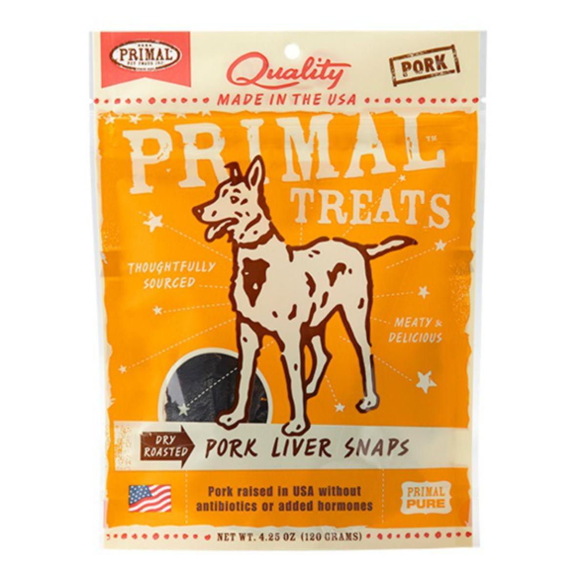 Primal Dry Roasted Dog Treat - Pork Liver Snaps