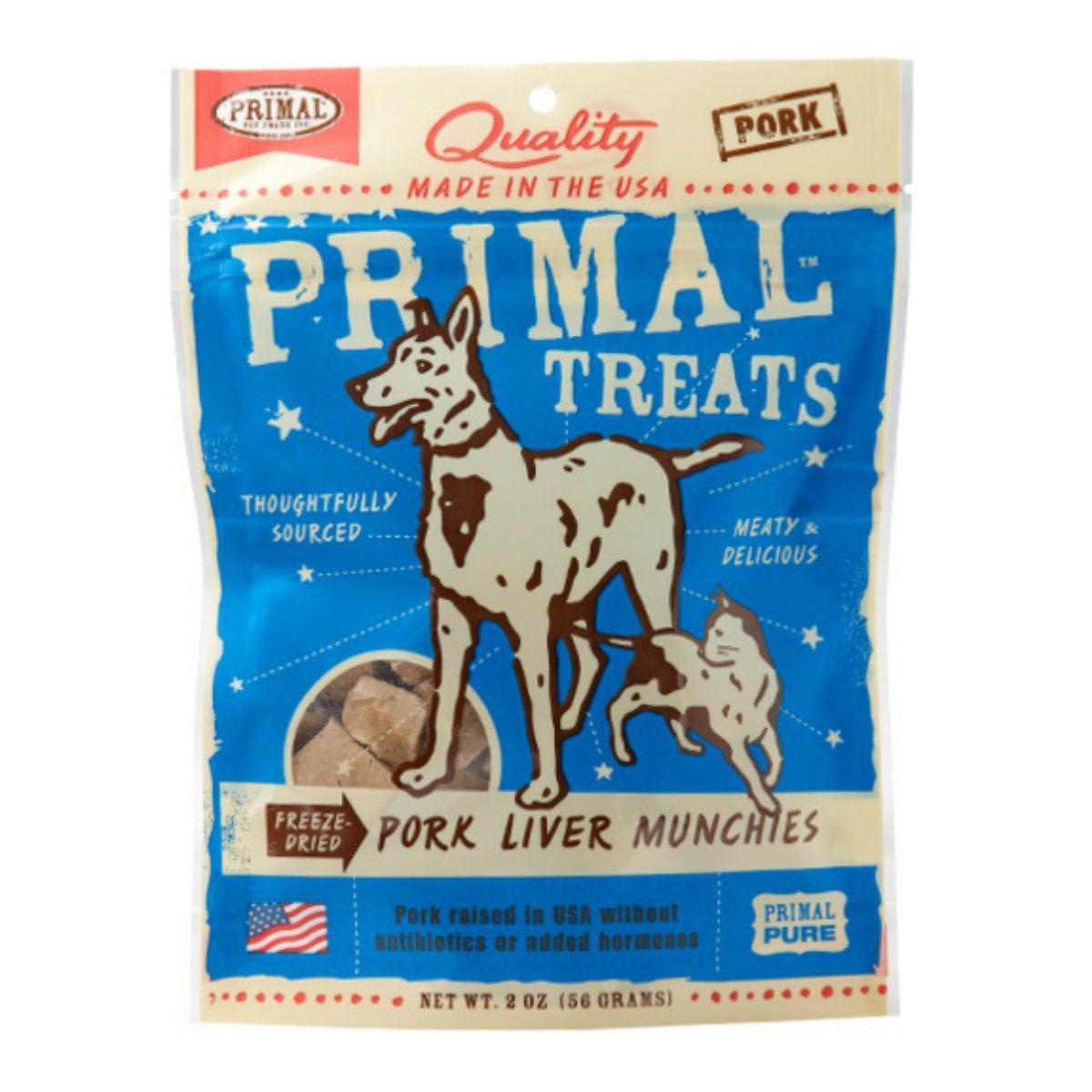 Primal Freeze Dried Pet Treat - Pork Liver Munchies