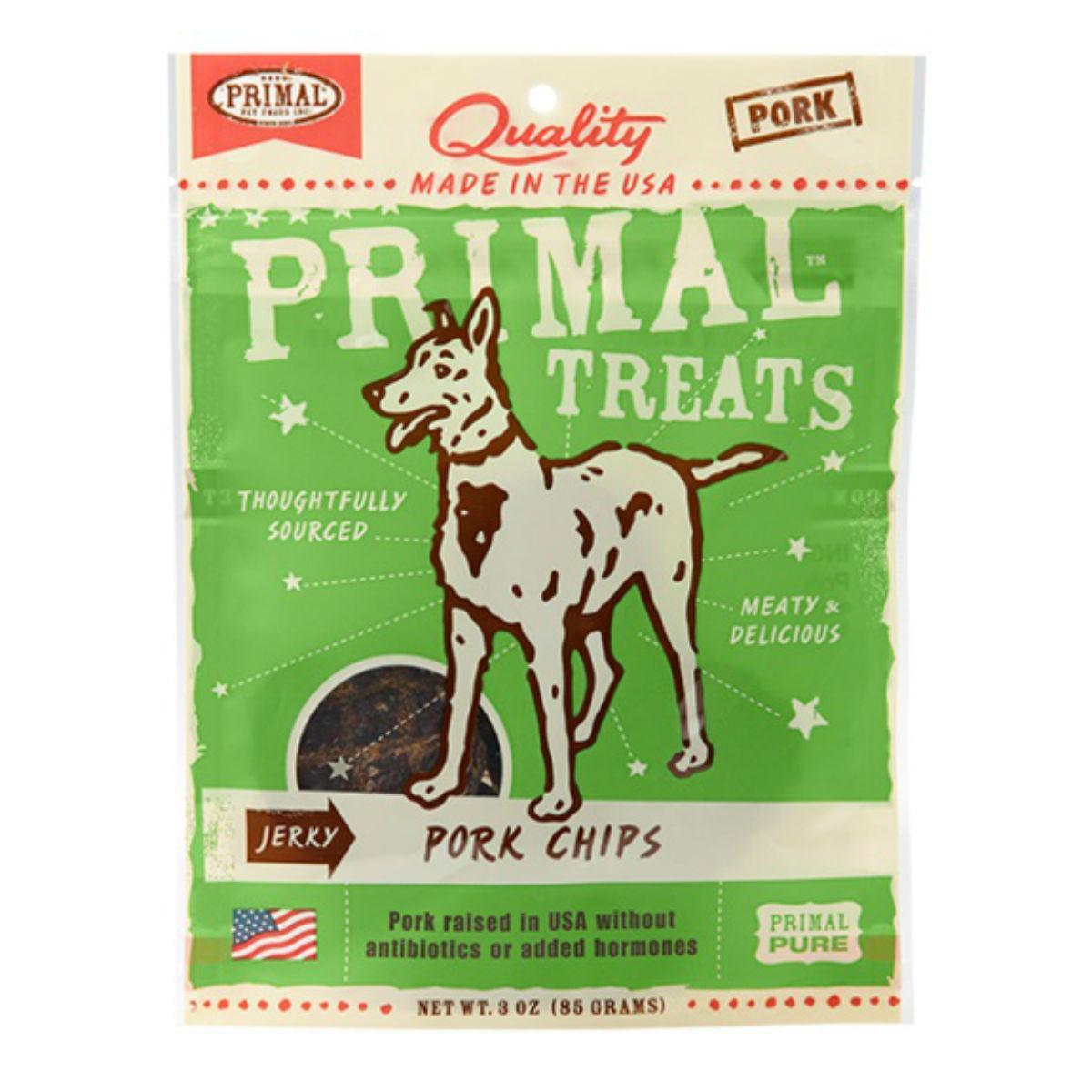 Primal Jerky Dog Treat - Pork Chips