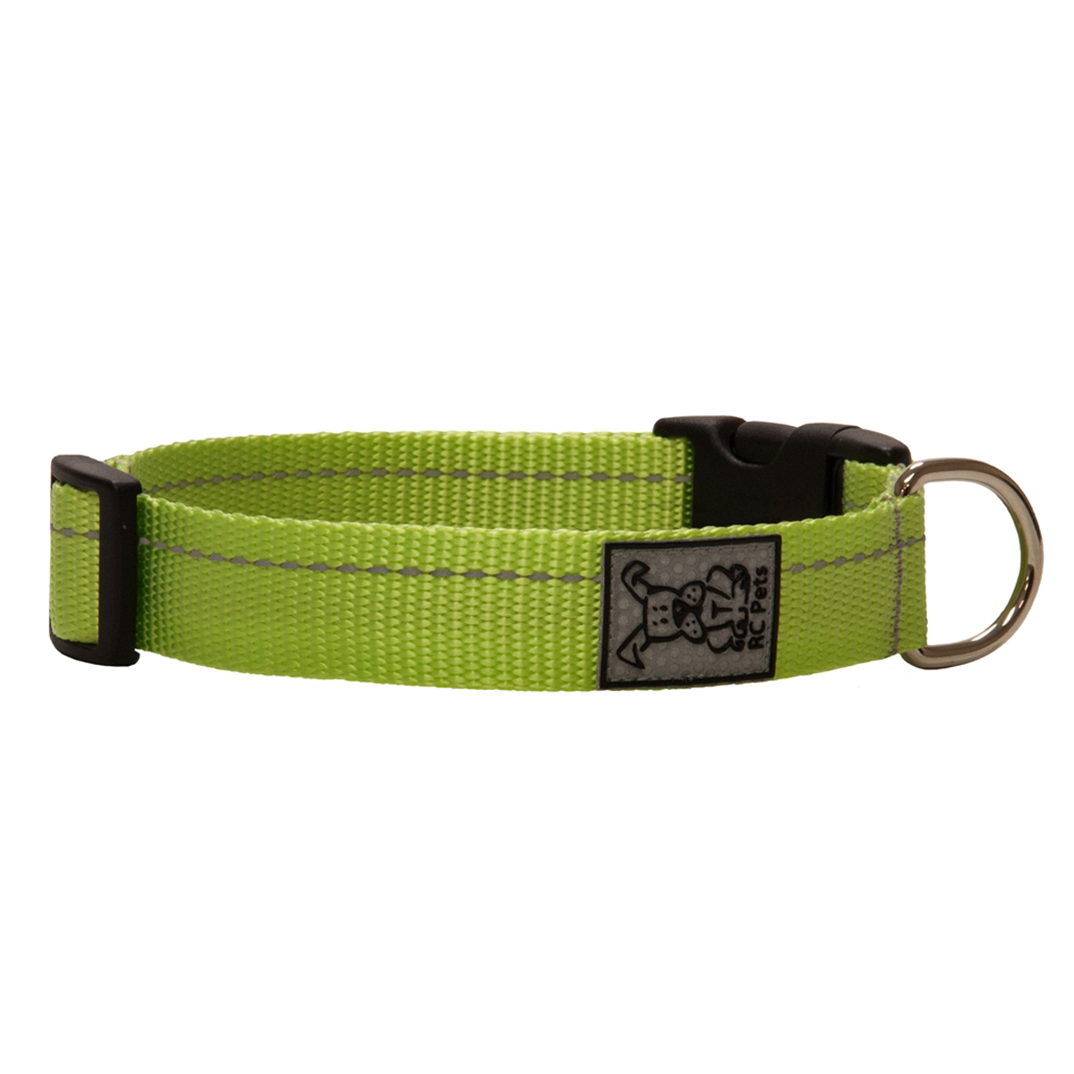 Primary Clip Dog Collar - Lime