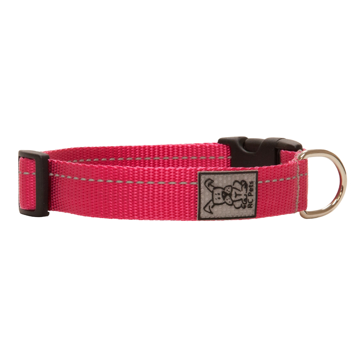 Primary Clip Dog Collar - Raspberry