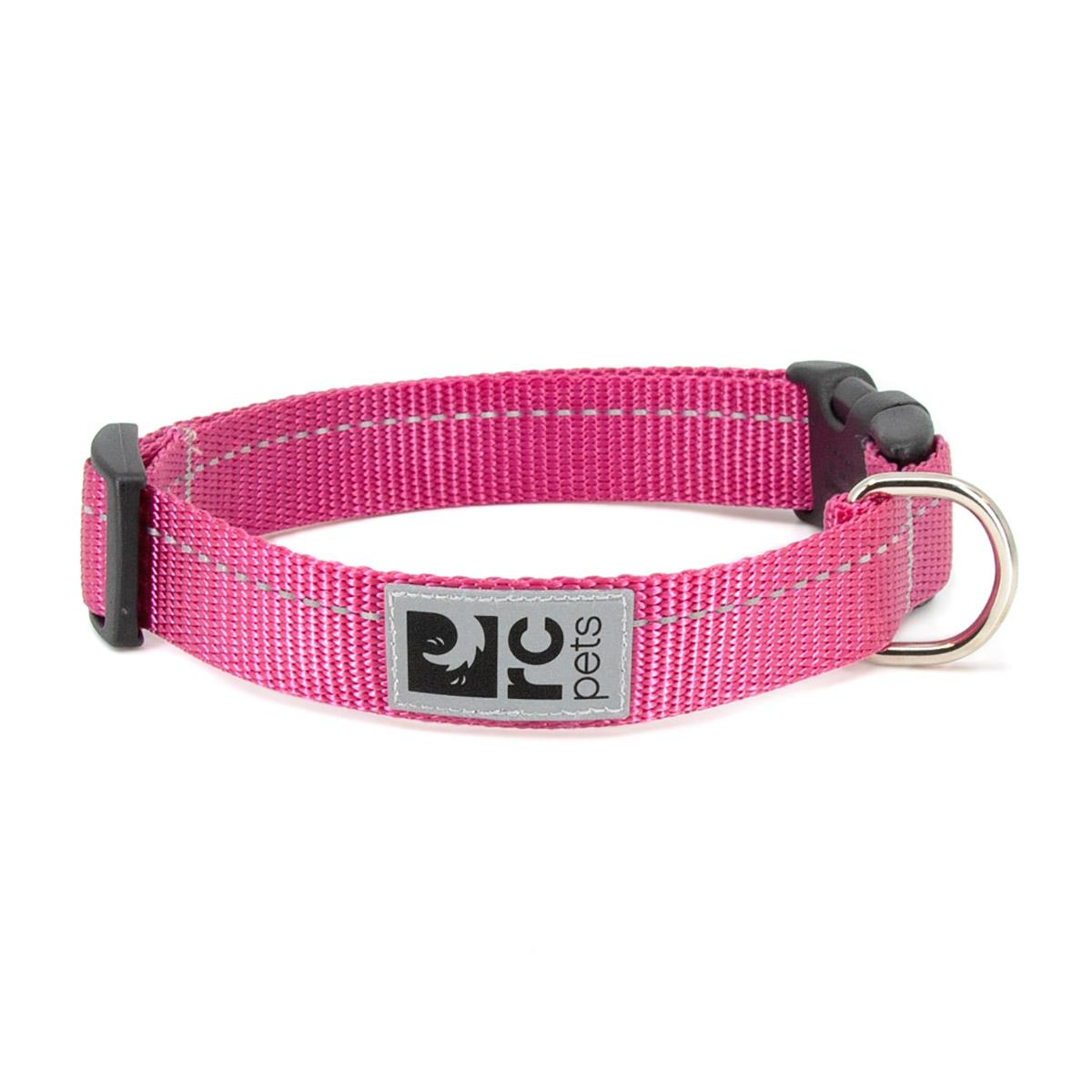 Primary Clip Dog Collar - Raspberry