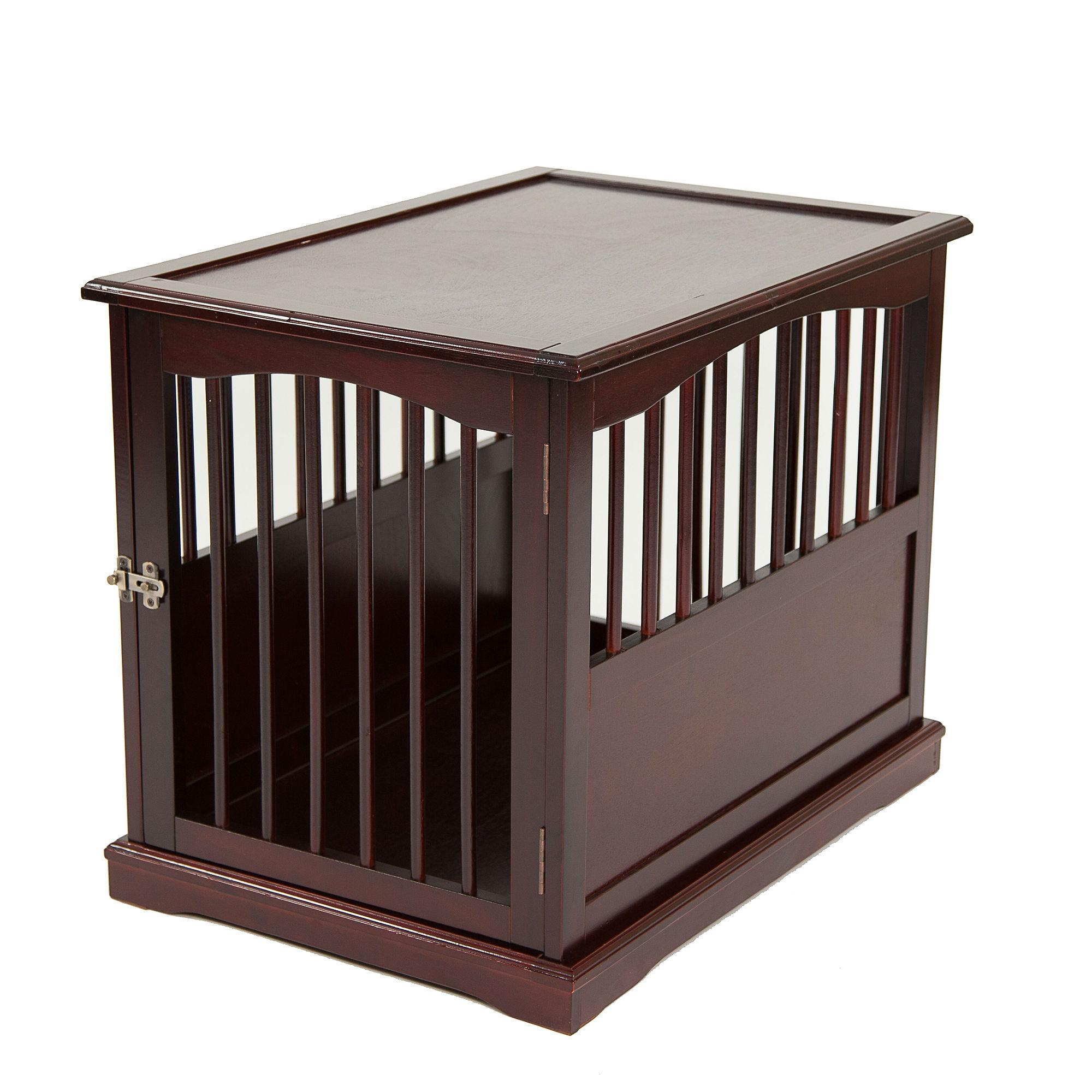 Primetime Petz End Table Dog Crate - Walnut