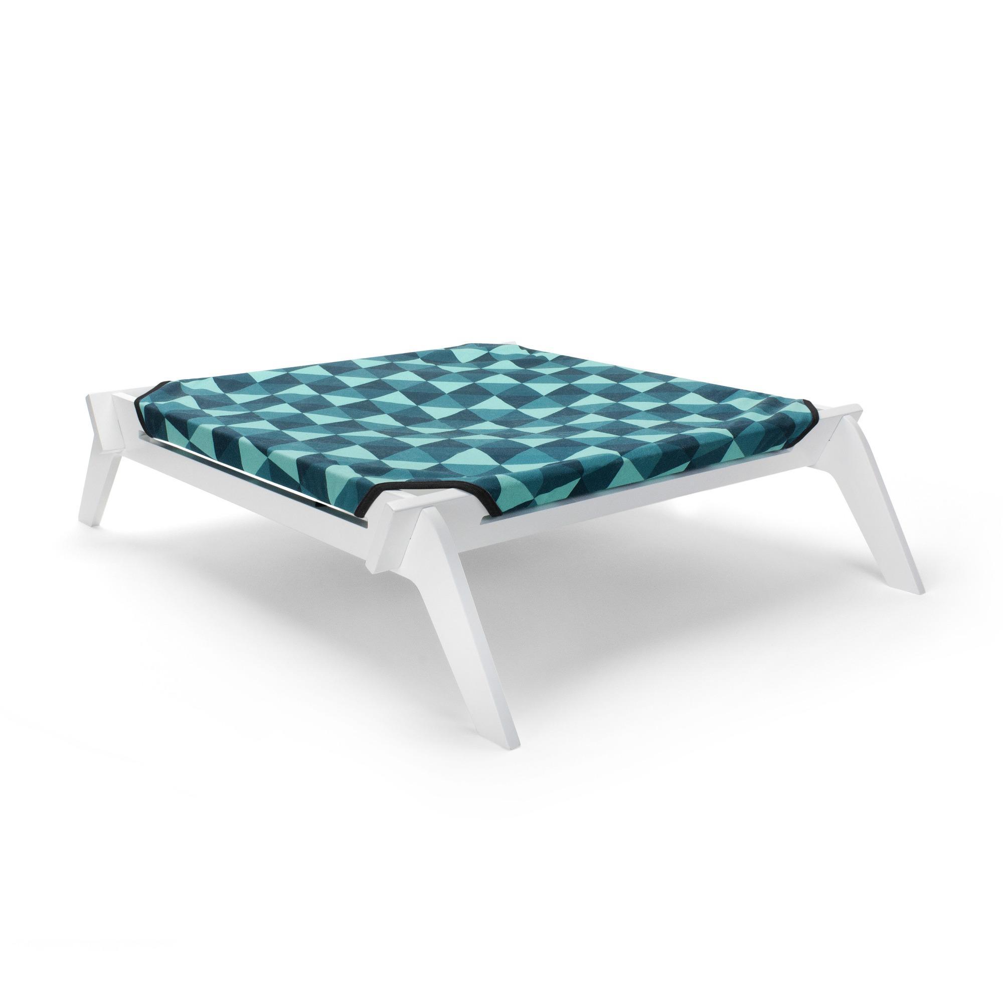Primetime Petz Reversible Designer Dog Lounge - Blue/Teal