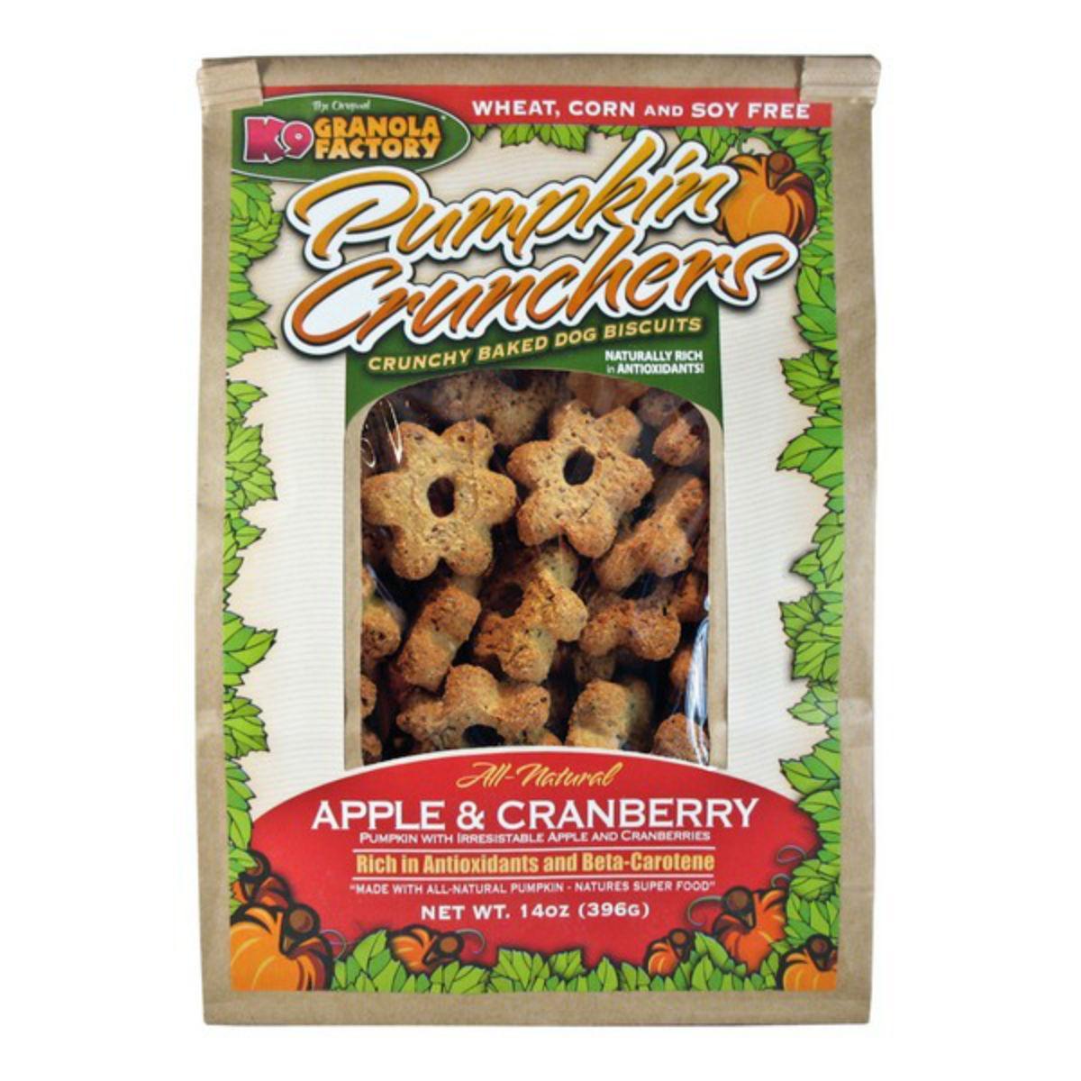 K9 Granola Factory Pumpkin Crunchers Dog Treat - Apple & Cranberry