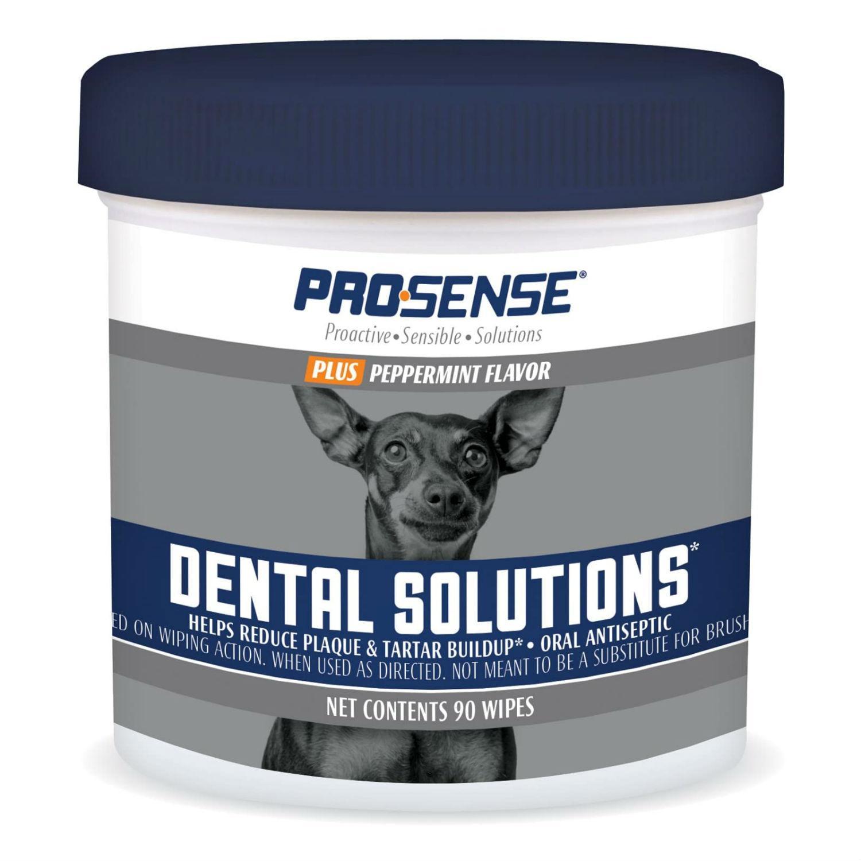 ProSense Plus Peppermint Flavor Dog Dental Solutions Wipes