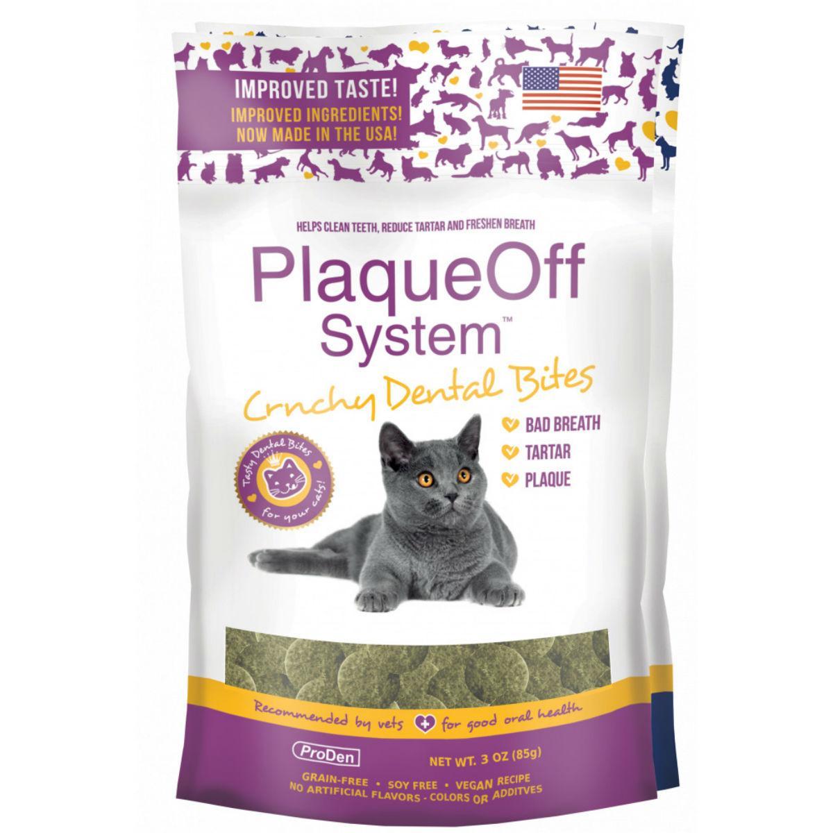 ProDen PlaqueOff Crunchy Dental Bites Cat Treat