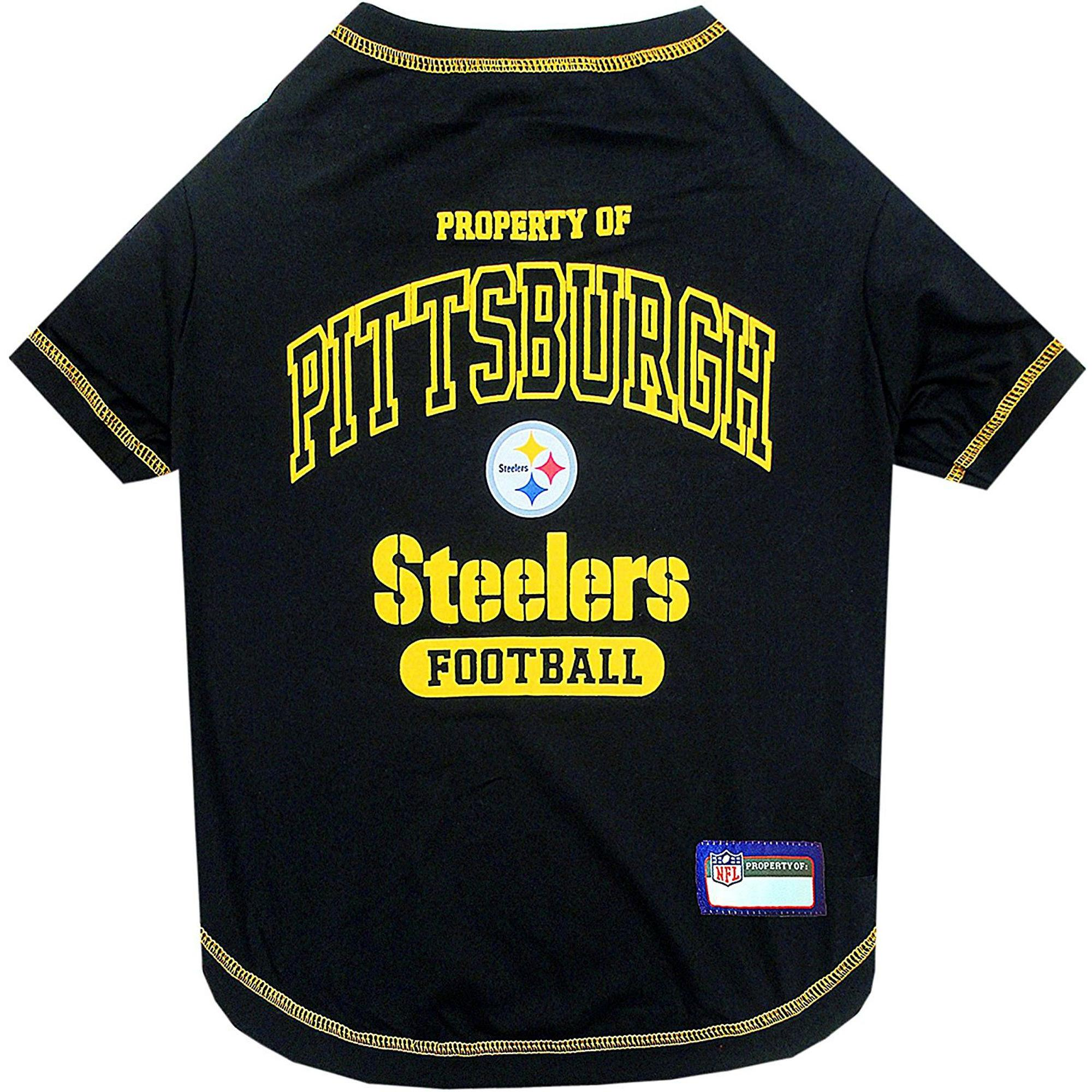 Property Of Pittsburgh Steelers Dog T-Shirt - Black