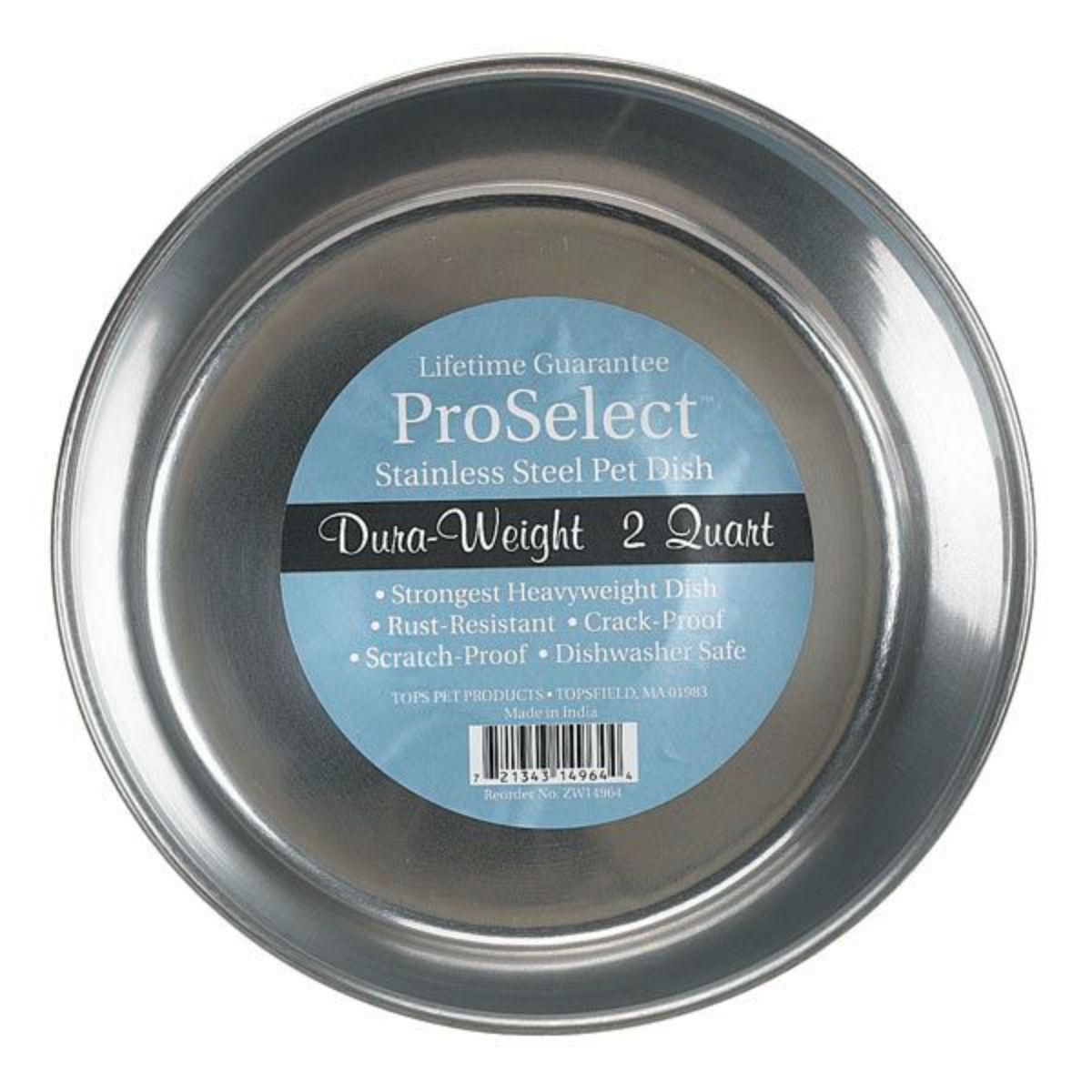 ProSelect Dura Weight Stainless Steel Dog Bowl