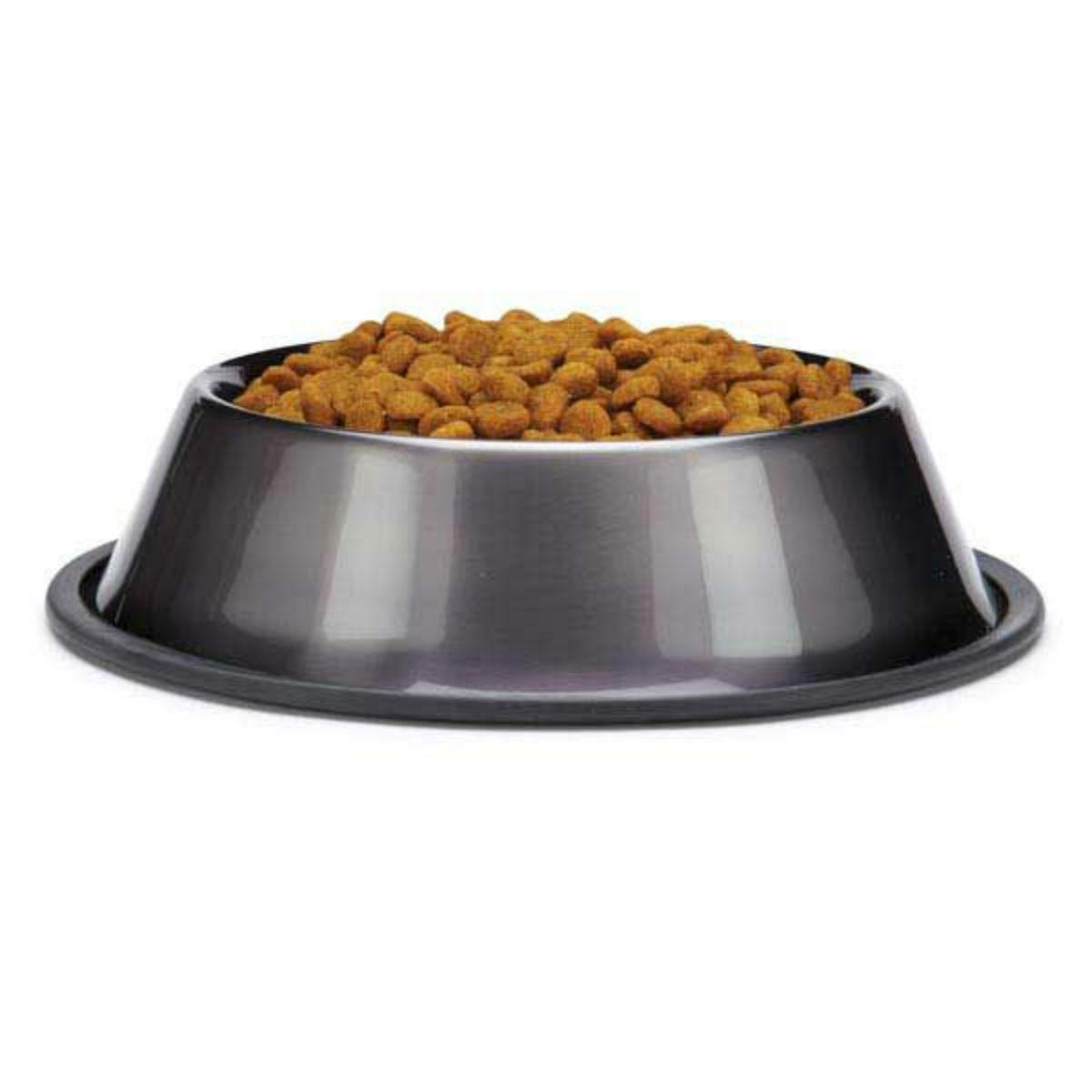 ProSelect DuraGloss Metallic Stainless Steel Dog Bowl - Graphite
