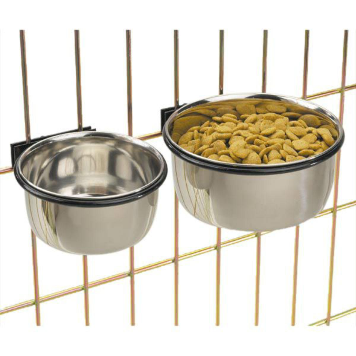 ProSelect Stainless Steel Coop Cups Dog and Cat Bowl