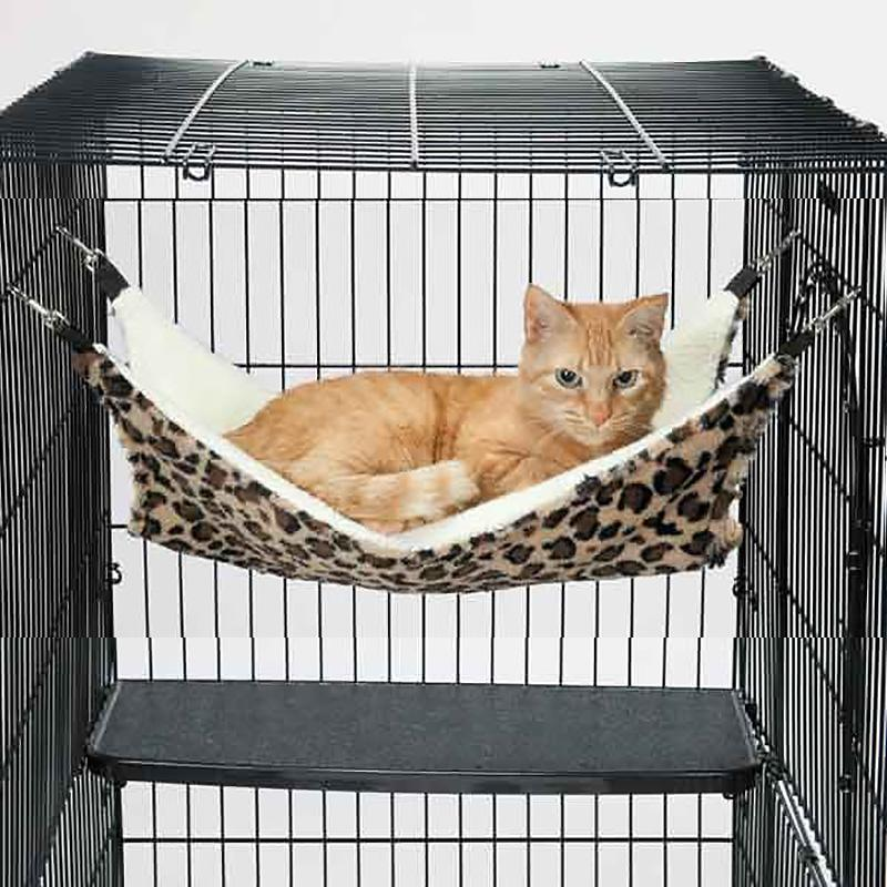 ProSelect ThermaPet Cat Cage Hammock - Brown Leopard