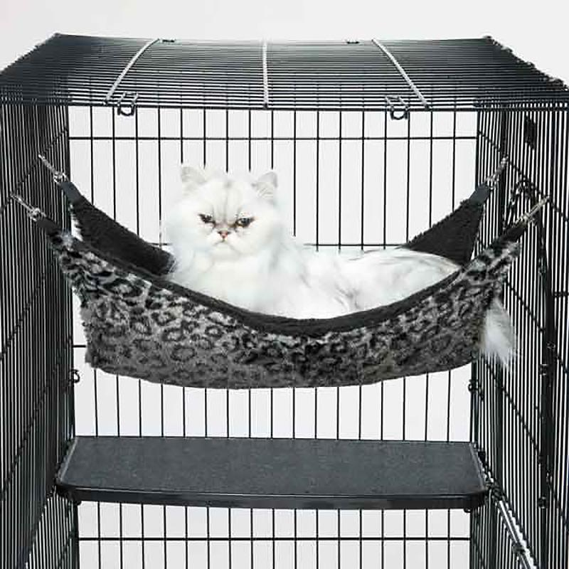 proselect thermapet cat cage hammock   silver leopard proselect thermapet cat cage hammock   silver leopard with same      rh   baxterboo