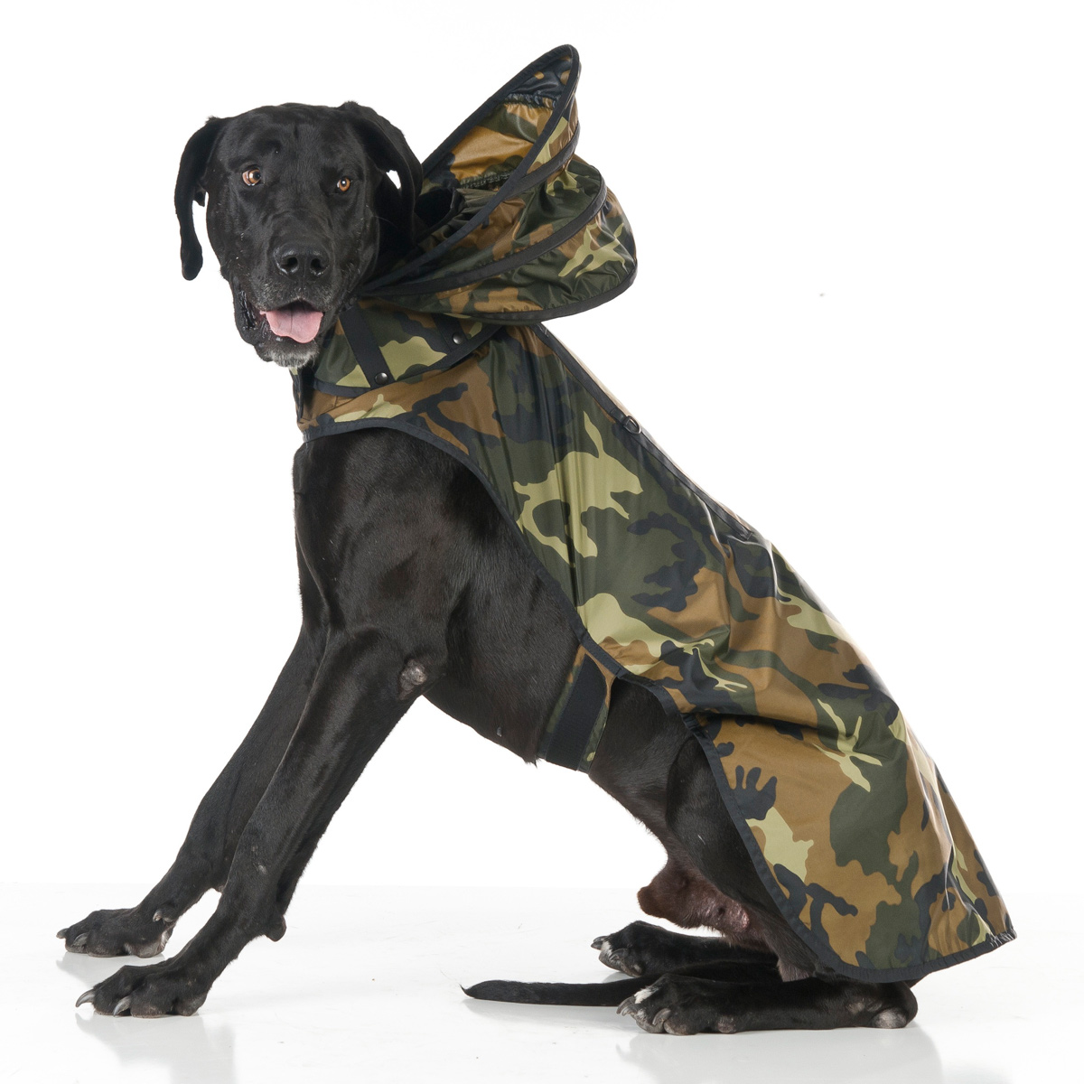 Puddle Jumper Dog Raincoat - Woodland Camo