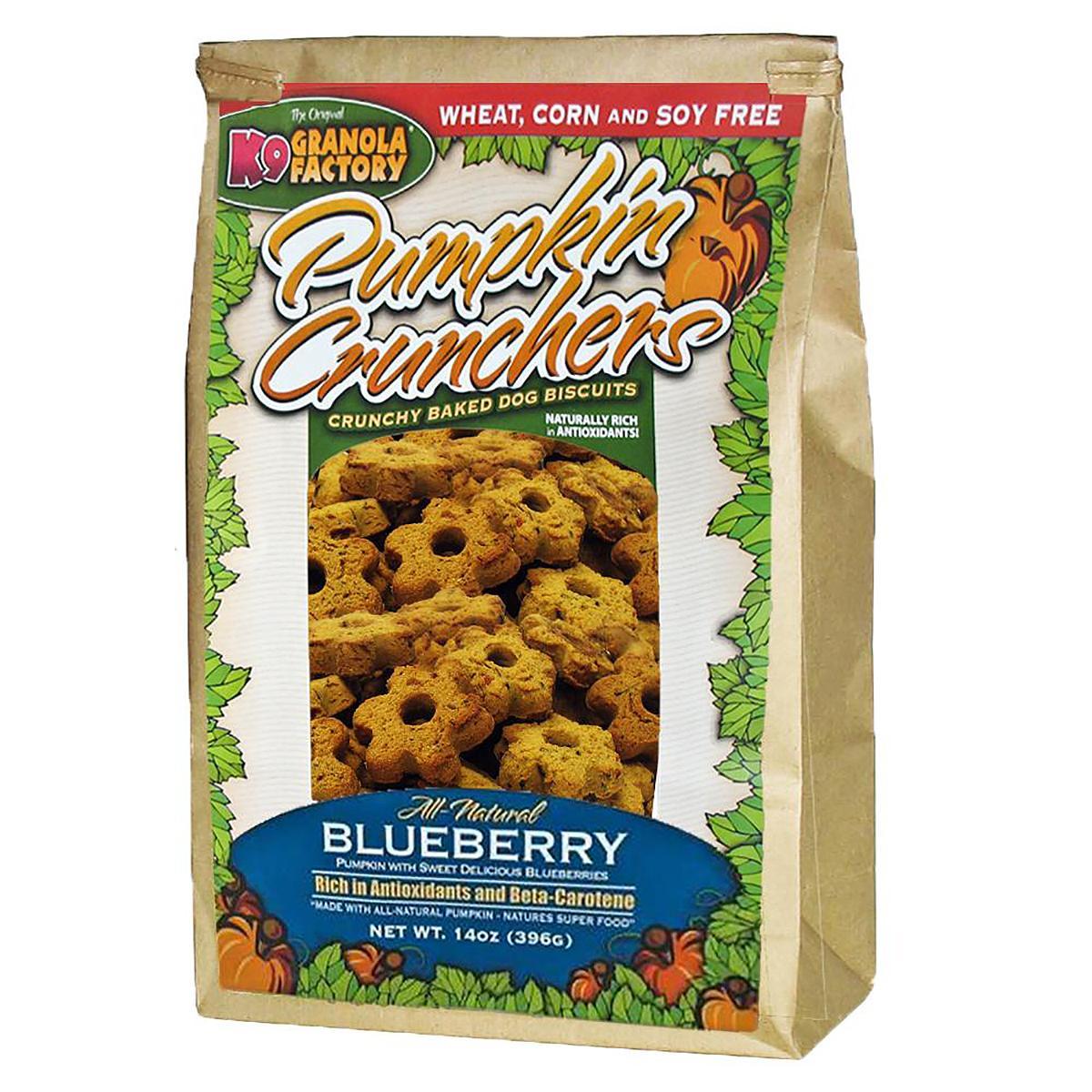 K9 Granola Factory Pumpkin Crunchers Dog Treat - Blueberry
