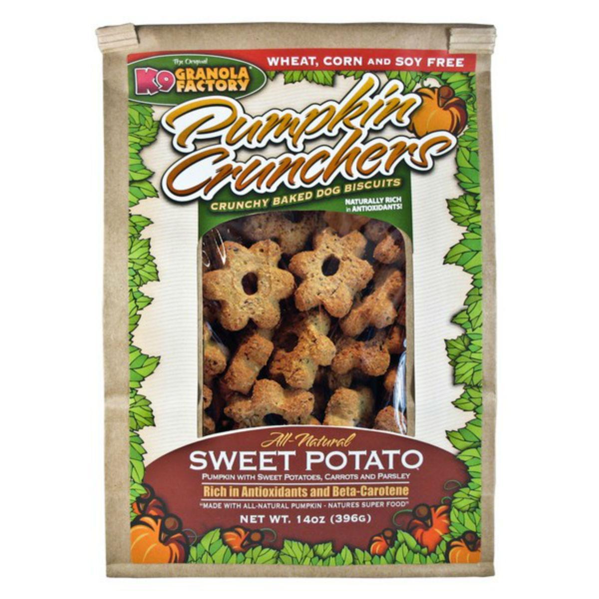 K9 Granola Factory Pumpkin Crunchers Dog Treat - Sweet Potato w/ Carrot & Parsley