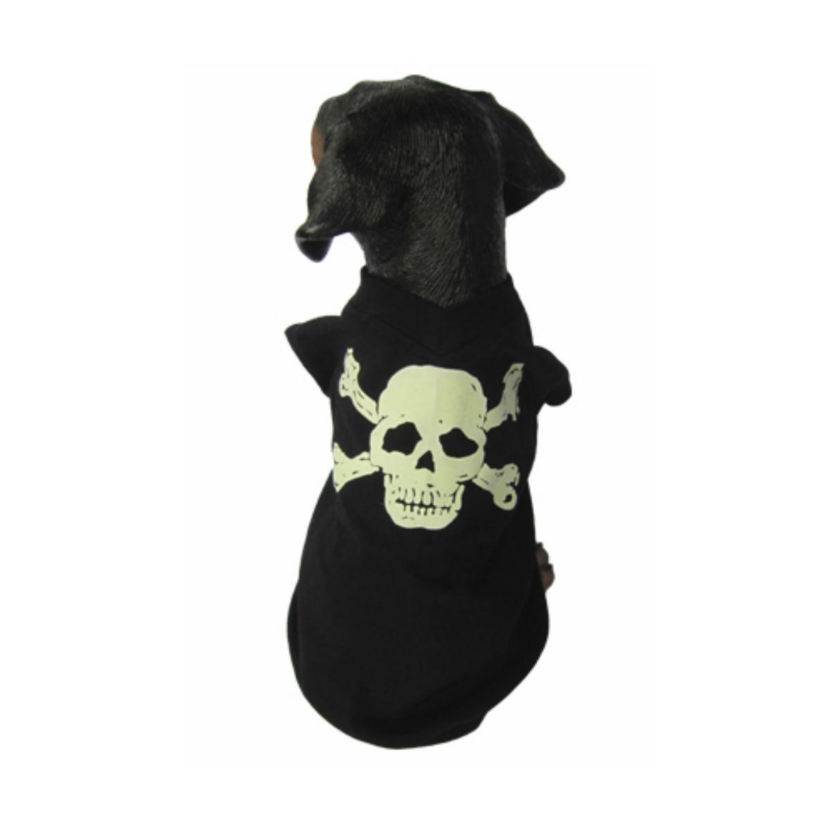 Puppe Love Glow in the Dark Skull Dog Shirt