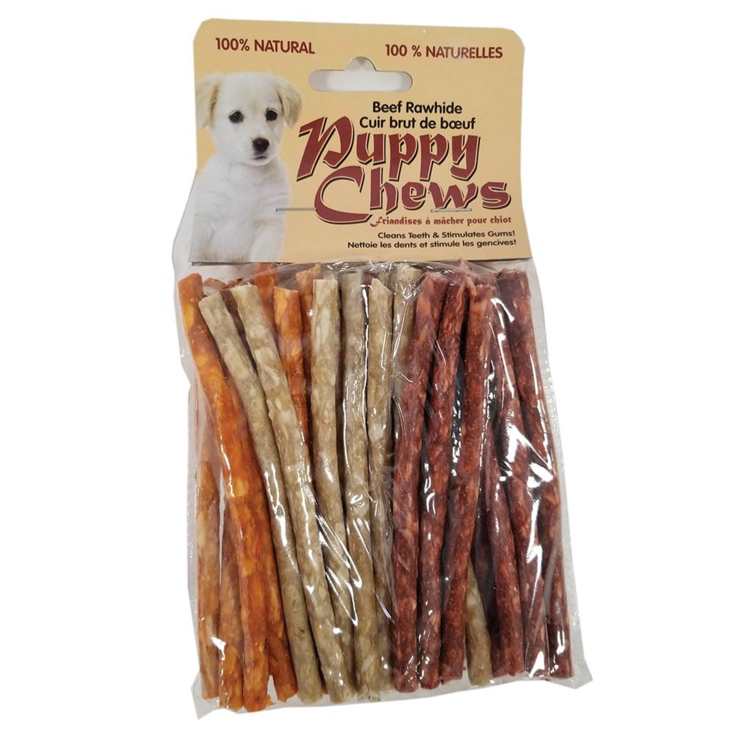 Puppy Chews Assorted Flavored Munchies Sticks Dog Treats - 5in Length