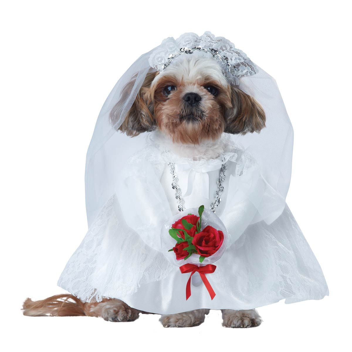 Puppy Love Dog Costume Bride With Same Day Shipping