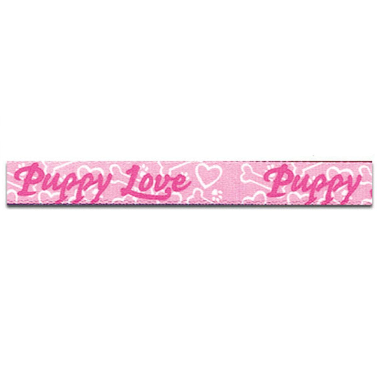 Puppy Love Dog Leash by Yellow Dog - Pink