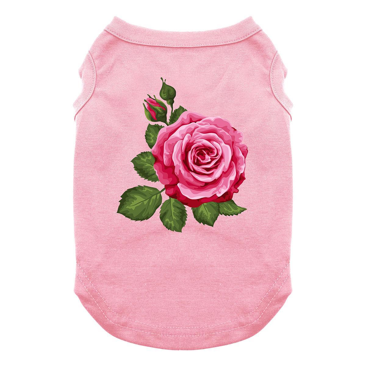Rose in Full Bloom Dog Shirt - Light Pink