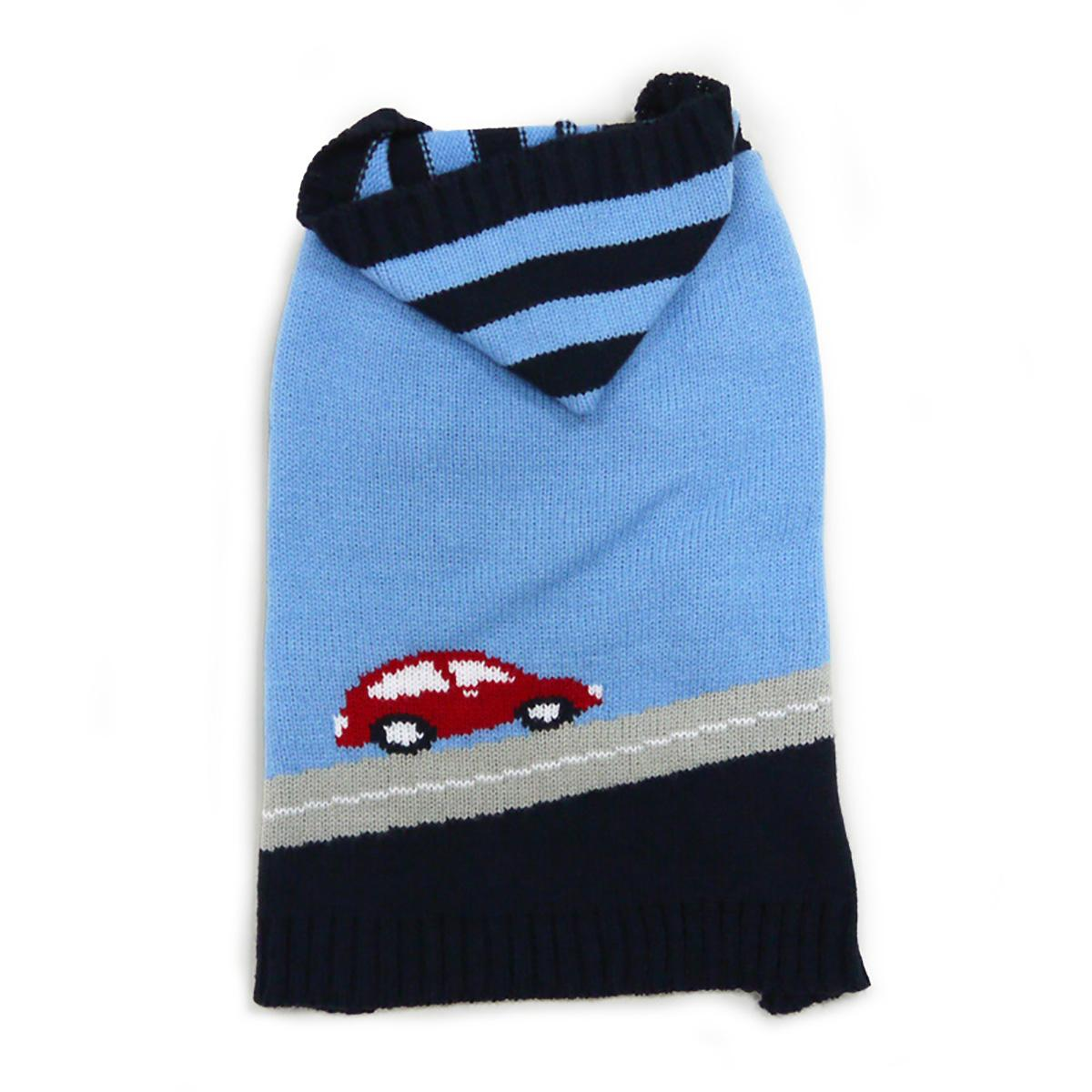 PuppyPAWer Car Sweater Dog Sweater by Dogo - Blue