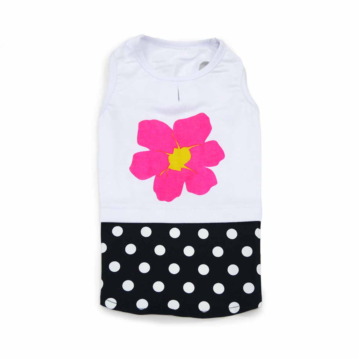 PuppyPAWer Flower N Dot Dog Tank Dress