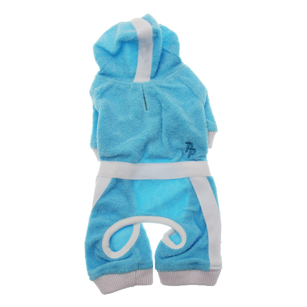 PuppyPAWer Terry Hoody Jumper by Dogo - Blue
