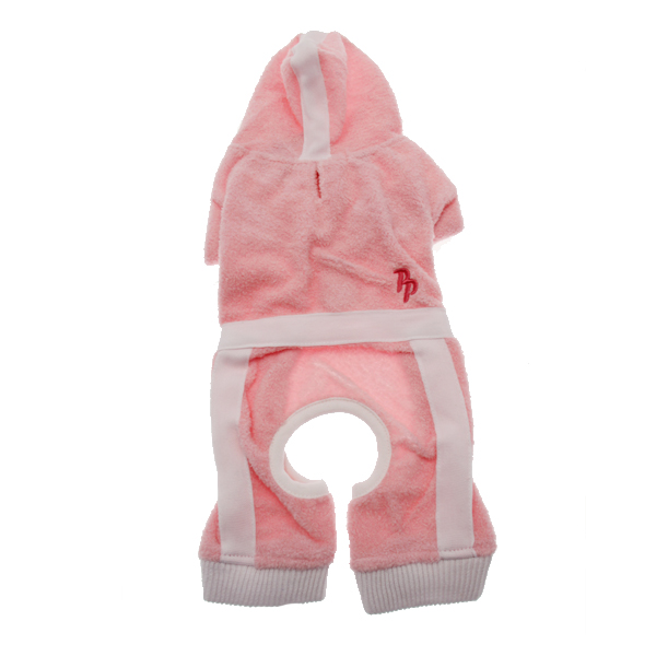 PuppyPAWer Terry Hoody Jumper by Dogo - Pink