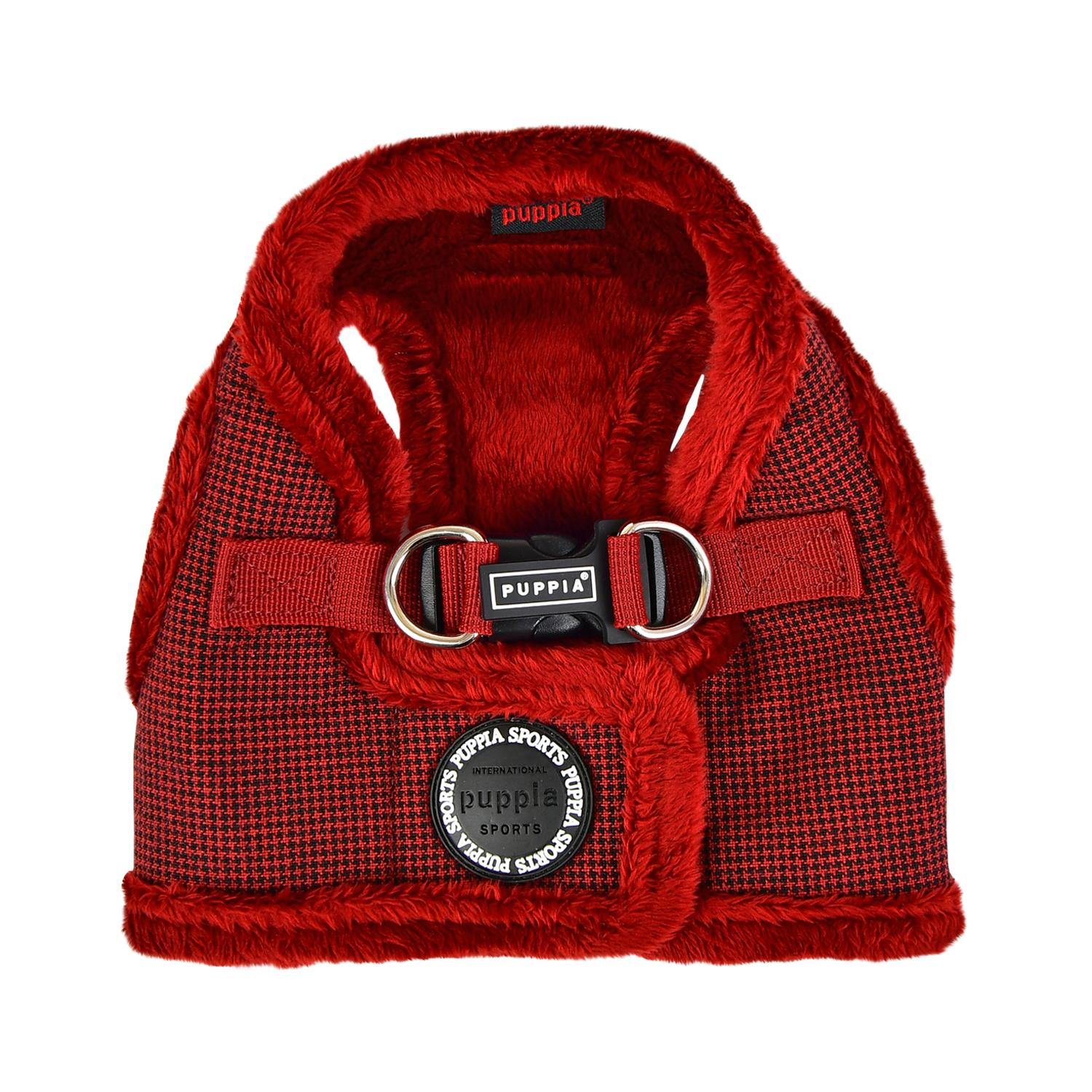 Puppytooth Vest Dog Harness By Puppia - Wine
