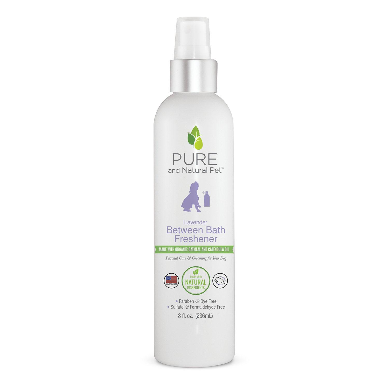 Pure and Natural Pet Between Bath Freshener Spray for Dogs - Lavender