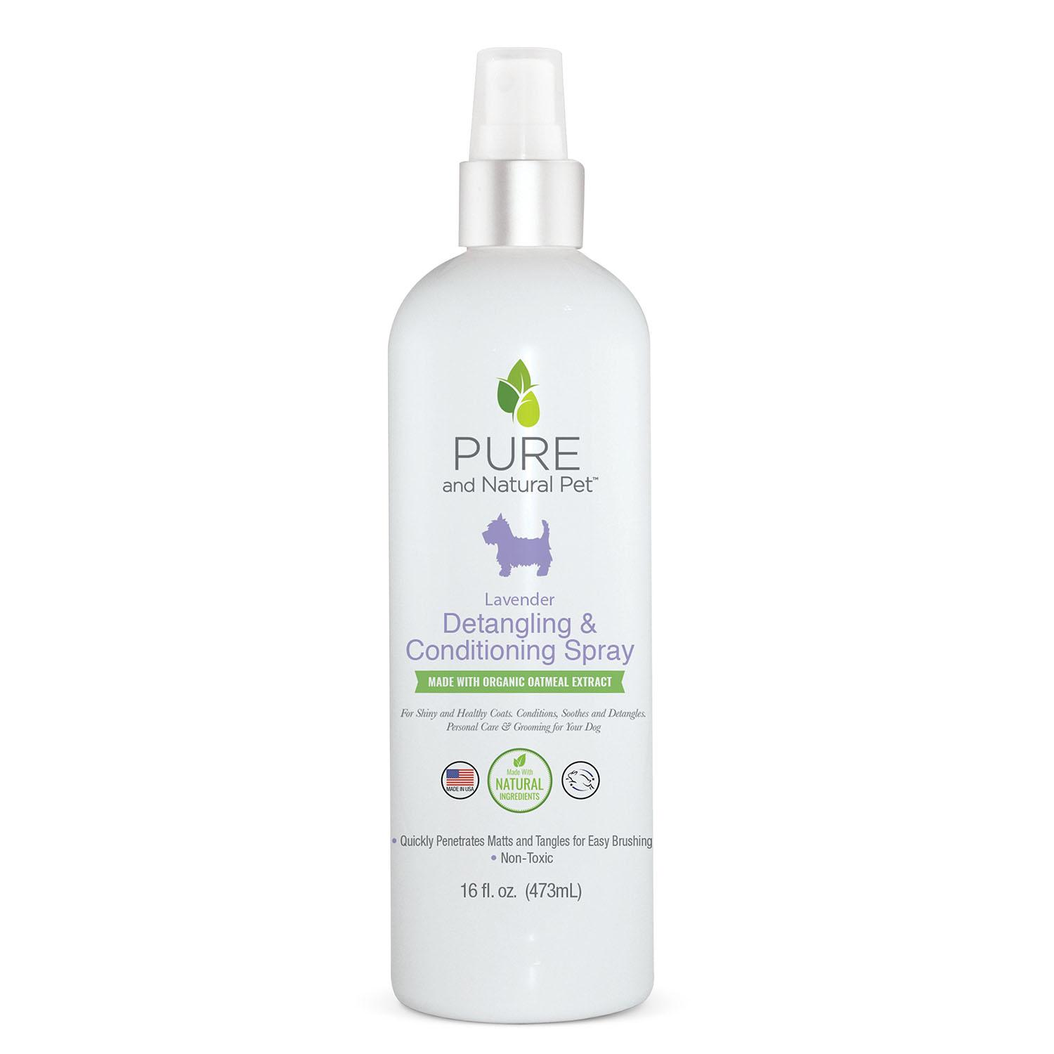 Pure and Natural Pet Lavender Detangling & Conditioning Spray for Dogs