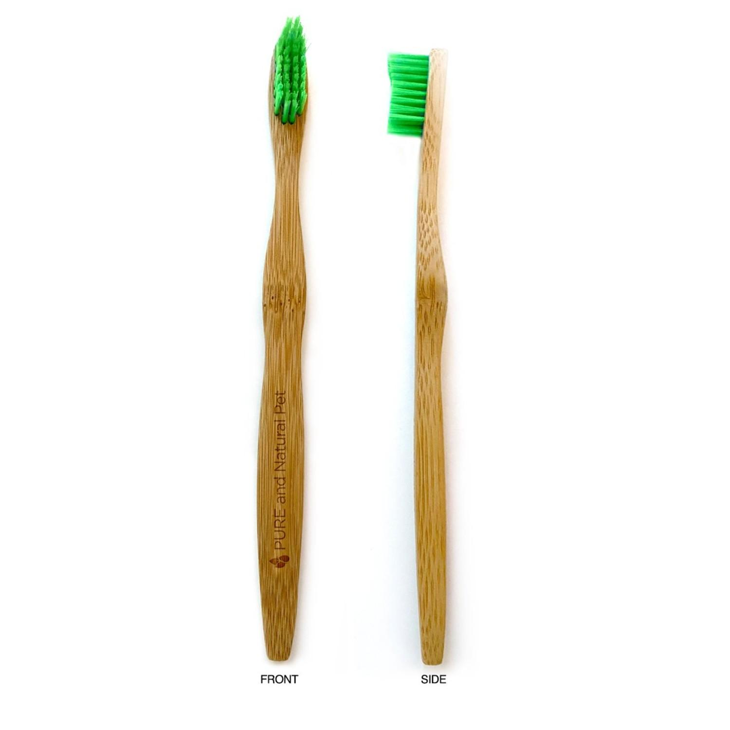 Pure and Natural Pet Organic Dental Solutions Bamboo Dog Toothbrush