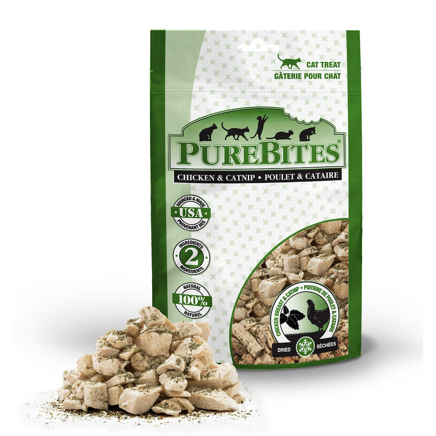 PureBites Freeze Dried Cat Treats - Chicken Breast and Catnip