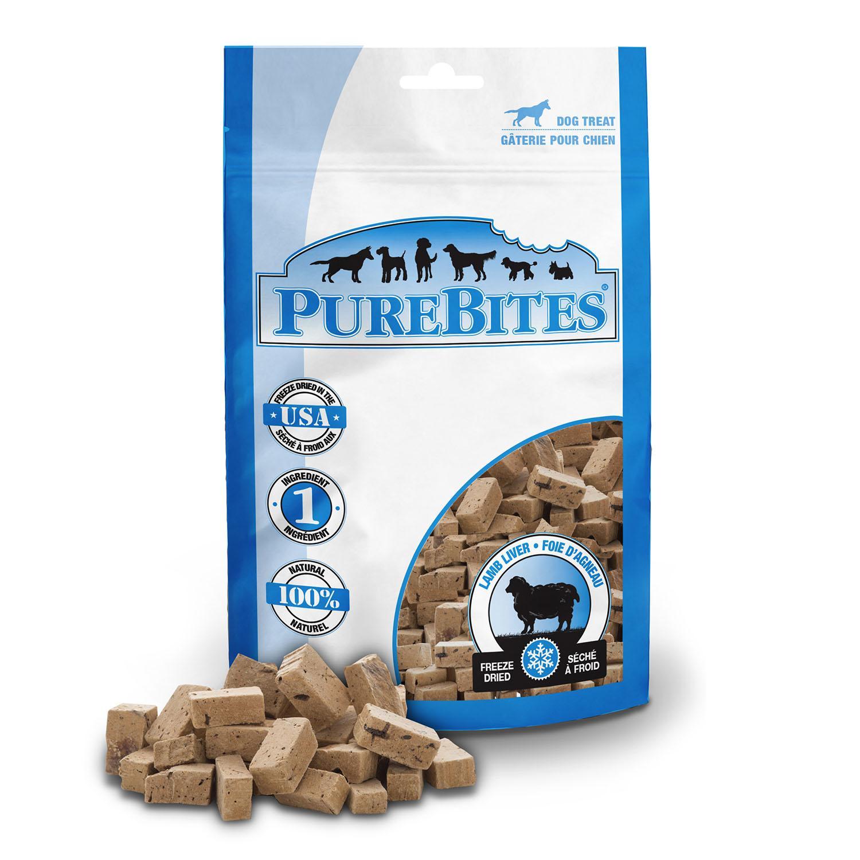 PureBites Freeze Dried Dog Treats - Lamb Liver