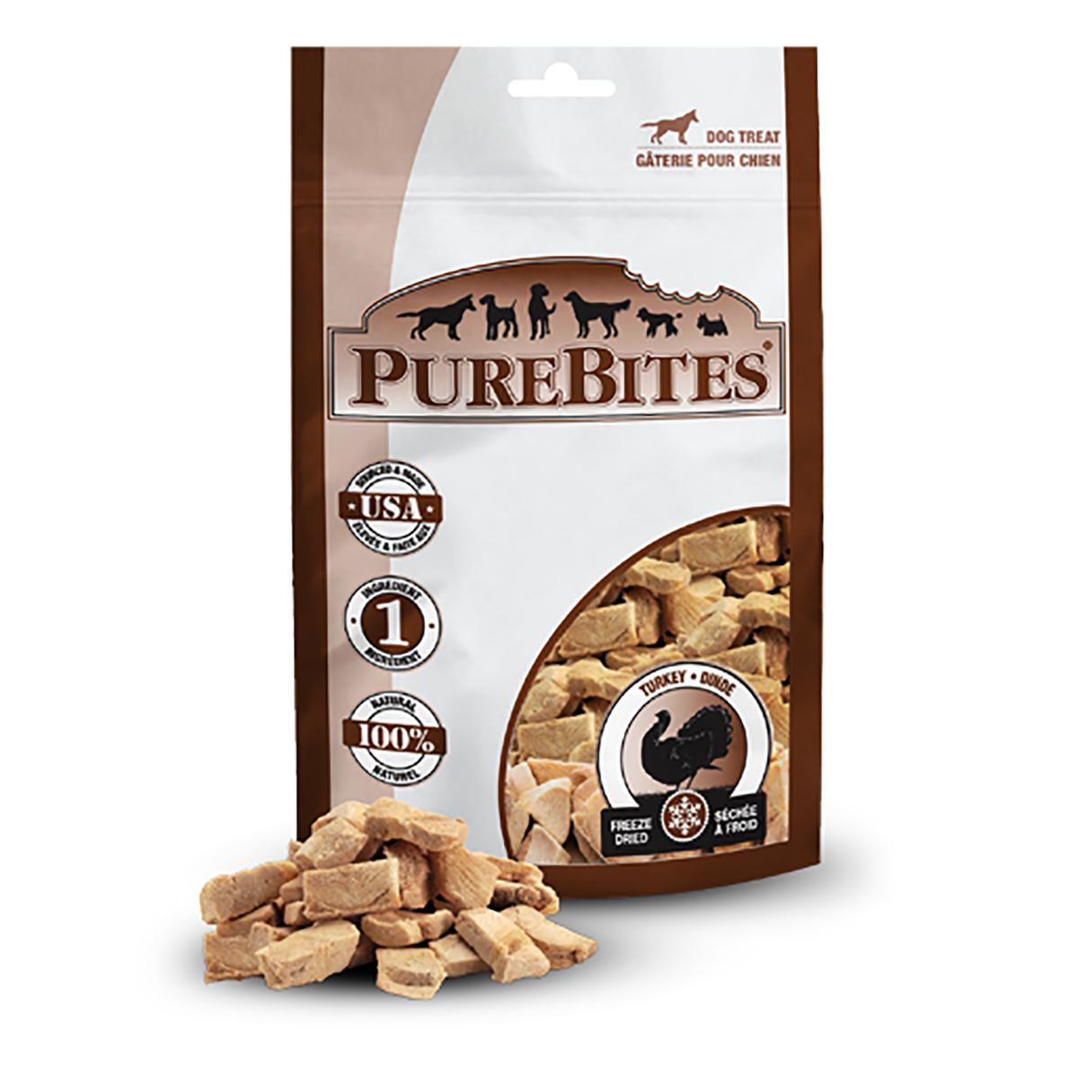 PureBites Freeze Dried Dog Treats - Turkey Breast