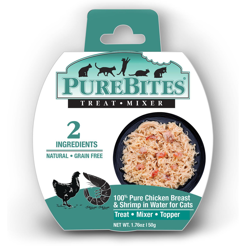 PureBites Mixers Cat Treat Tray - Chicken Breast & Wild Ocean Shrimp in Water