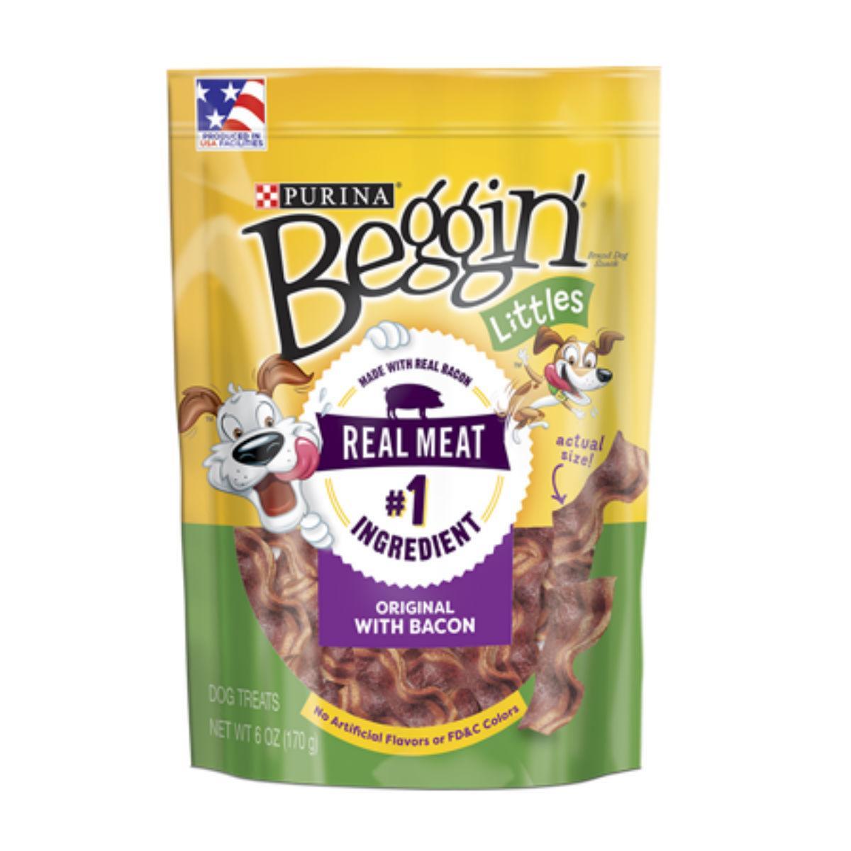 Purina Beggin Littles Dog Treat - Bacon Flavor