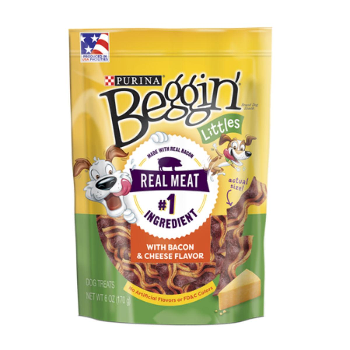 Purina Beggin Littles Dog Treat - Bacon and Cheese Flavor