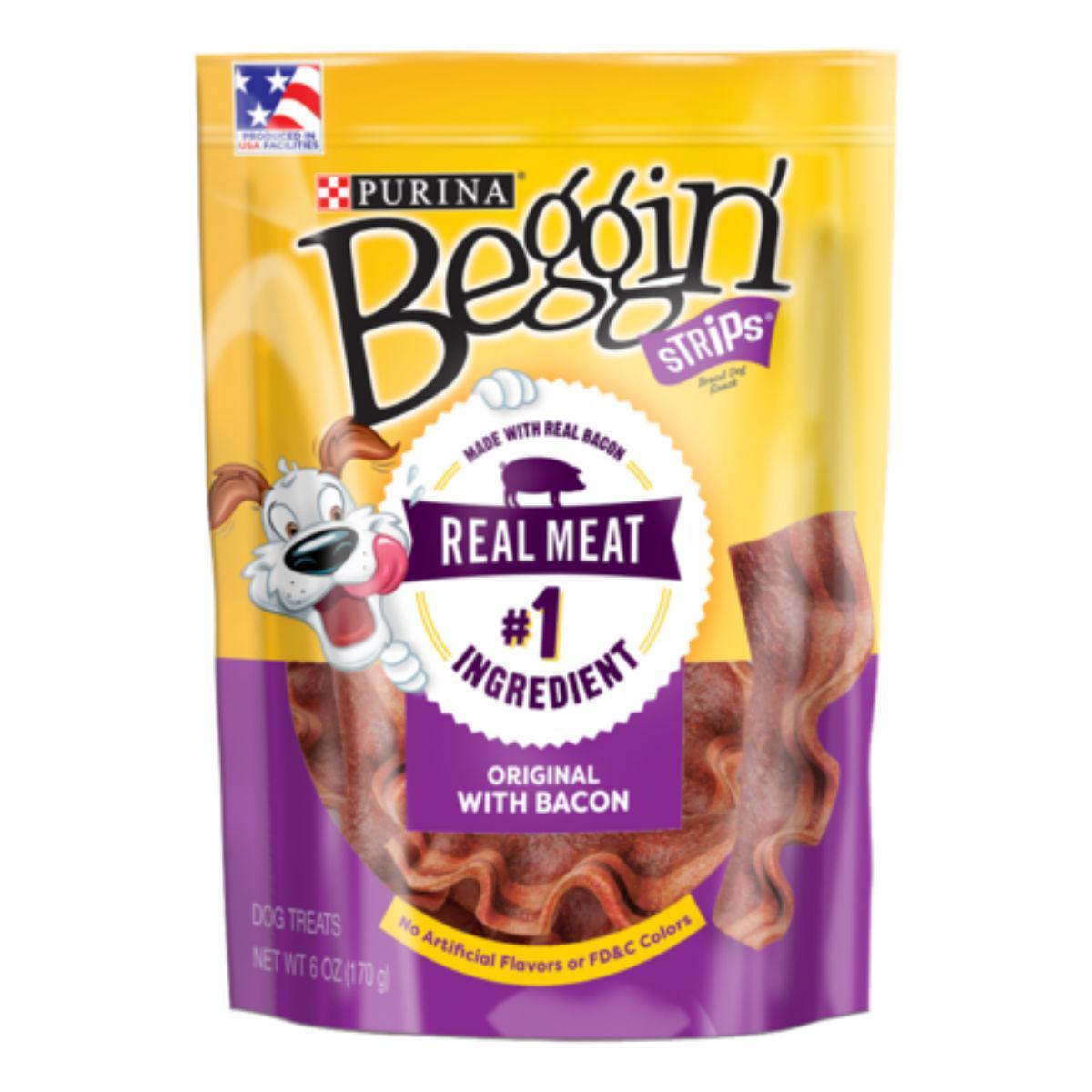 Purina Beggin Strips Dog Treats - Bacon Flavor