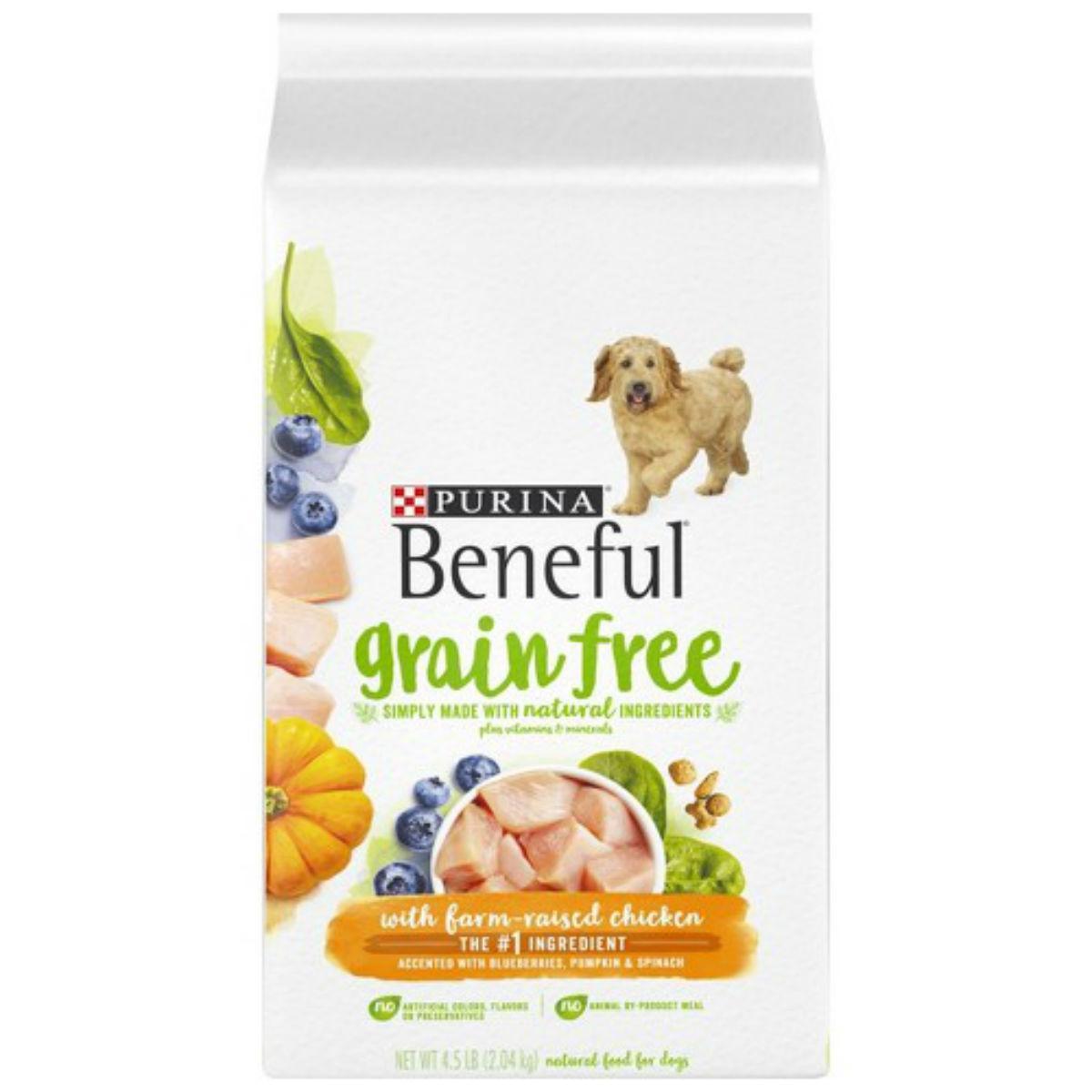 Purina Beneful Grain Free Dry Dog Food - Farm-Raised Chicken